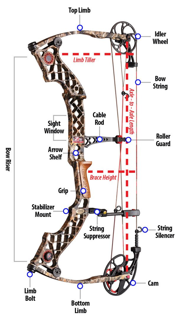 compound bow diagram bowhunting com Trainer Archery Bow Diagram compound bow diagram