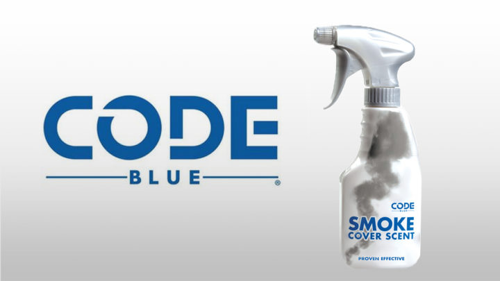 Absorb Human Odor With Code Blue Smoke Cover Scent