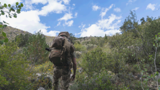 elk hunt-hiking with pack